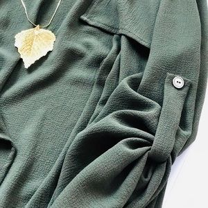 Sweaters - Boutique Color Swatch Olive Cardigan/Jacket